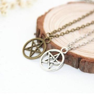 Colar Sobrenatural/Supernatural - Pentagrama