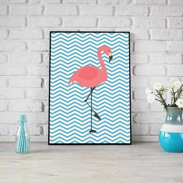 Arte Digital para Pôsteres e Quadros - flamingo