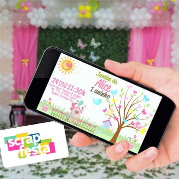 Convite Arte Digital Festa Jardim Encantado