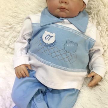 120e7f222 Saida de Maternidade Ursinho Principe Bebe Personalizavel