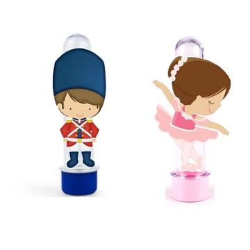 Aplique tubete 3D Soldadinho de Chumbo e Bailarina