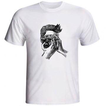 Camiseta Fotografia Fotógrafo Desenho Foto