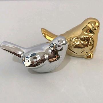 Mini Pássaro Dourado/Prata