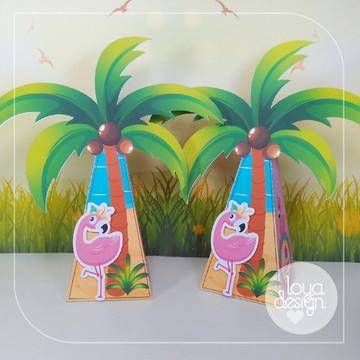 Caixa Cone Flamingos