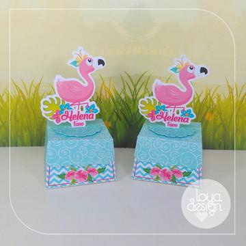 Caixa Trapezio Flamingos