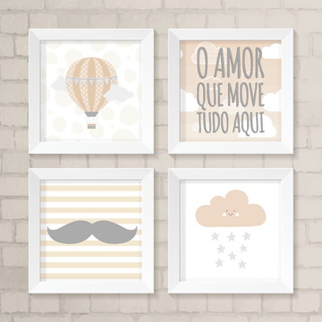 Kit de Quadros - O amor que move