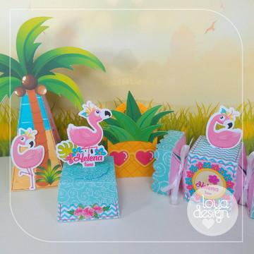 Kit Flamingos - 40 itens