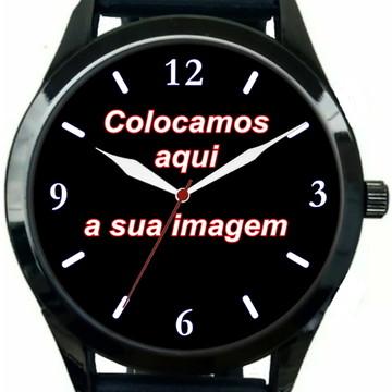 Kit 5 Relógios Pulso Personalizado Foto Imagem Logo Barato