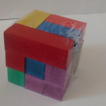 Cubo Tetris / Cubo Desafio ( madeira - clássico - educativo