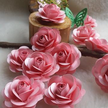 Mini rosinhas de papel scrap luxo .cintilante rosa quartzo