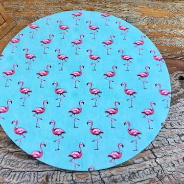 Capa Sousplat Flamingos