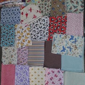 25 retalhos de tecido para artesanato, Patchwork, scrapbooki