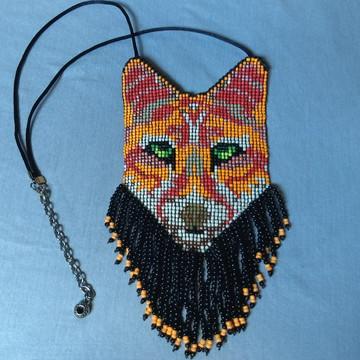 Colar raposa hippie chic