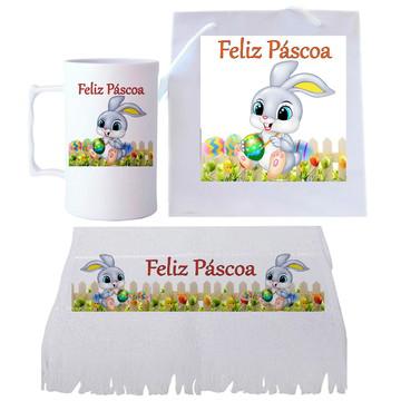 KIT DE PÁSCOA sacola+caneca+toalha, #Páscoa, Presente Páscoa