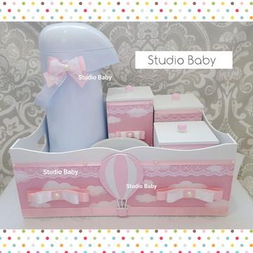 Kit Higiene Bebê Menina Balão