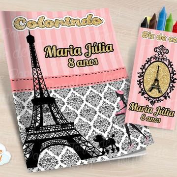 Kit colorir com giz de cera Paris