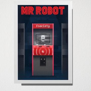 Quadro A3 Mr Robot