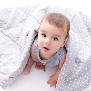 Manta/Edredon para bebê - Pompom