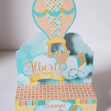 Porta chocolatinho duplo - festa Balão menino