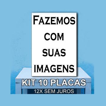 PLACA DECORATIVA SUAS IMAGENS 10 uni
