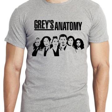 camiseta infantil blusa criança Greys Anatomy seriado medico