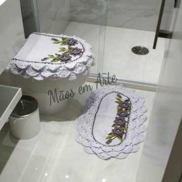 Jogo de Banheiro Crochê rendado