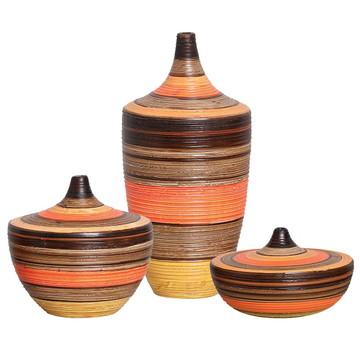 Trio de Vasos Coloridos de de Sala