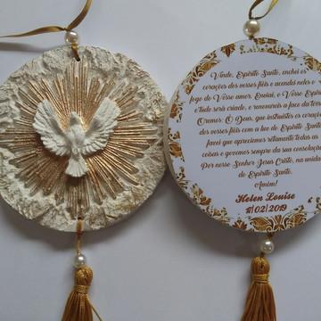 Pingente Mandala Divino Espírito Santo Personalizado