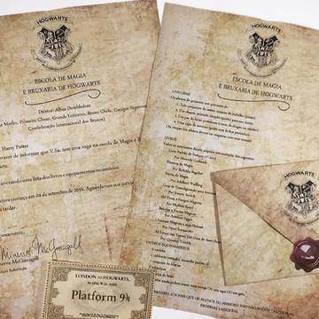 Arte digital Carta de Hogwarts