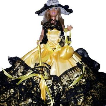 Roupinhas de boneca para Barbie - Vestidos Finos Baile