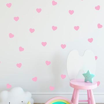 Adesivo Coração rosa bebe