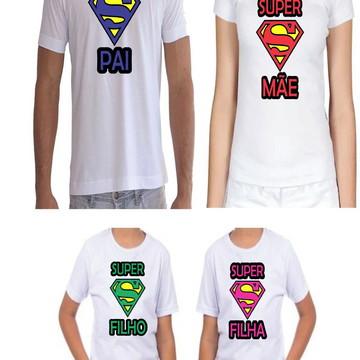 Camisetas Personalizadas Familia super Man