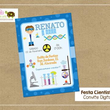 Convite digital Festa Cientista