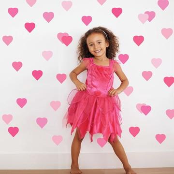 Adesivo Coração rosa