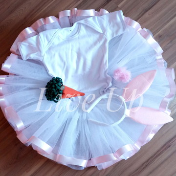 Tutu páscoa+ tiara + cenoura + body infantil