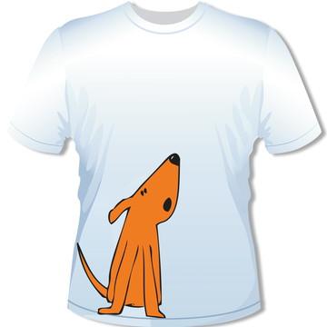 Camiseta Cão Laranja