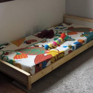78890d629f Cama Montessori em Madeira Maciça Pinus e MDF - Solteiro