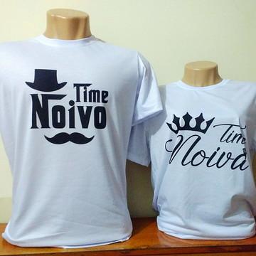 Camiseta Time Noiva e Time Noivo