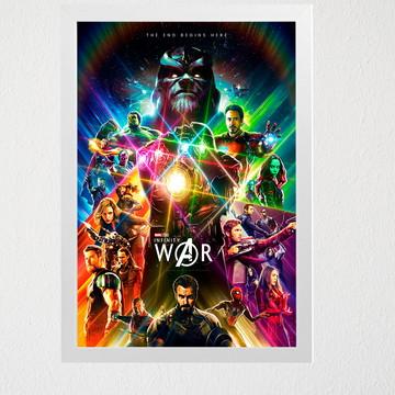 Quadro Marvel guerra infinita