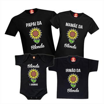Camisetas de Aniversário Tema Girassol