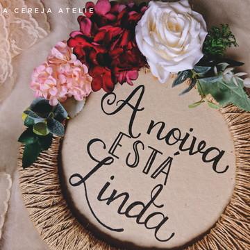 Placas Rustica com flores