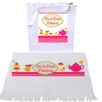 Sacola + Toalha Personalizada - Chá de Cozinha, Chá BarCha