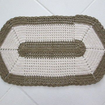 Tapete de croche oval