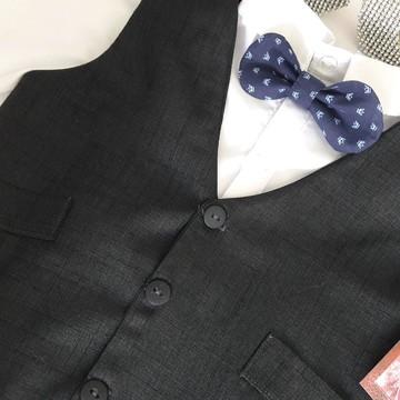 Colete +Camisa Alfaiataria infantil Masculino e gravata