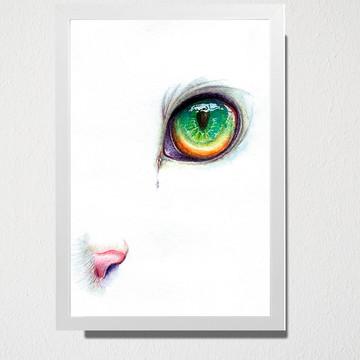 Quadro A3 Olho verde de gato