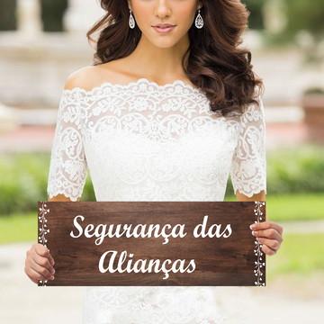 Plaquinhas para casamento- Segurança das alianças