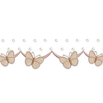 Matriz de bordado - Barrado de borboletas 002