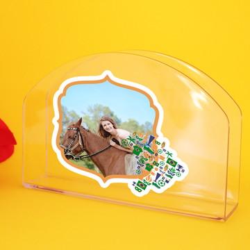 Porta-guardanapo de mesa com adesivo foto- Brasil mapa