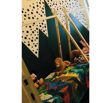 Mini Cama Cabana Montessori Aventura com Cama Auxiliar