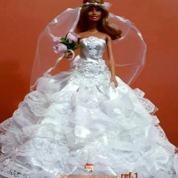 Roupinhas de boneca para Barbie - Noivas.